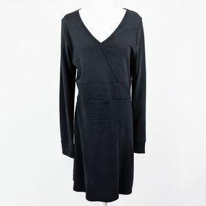 Toad & Co Finlay Dress Stretch V Neck Gray L